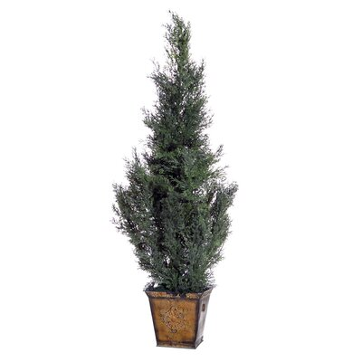 Vickerman Co. Cedar with Cones Cedar Tree in Planter