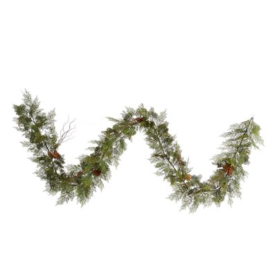 Vickerman Co. Cedar Twig Pine Cone Garland