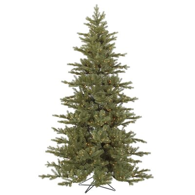 Vickerman Co. Baldwin 7.5' Green Spruce Artificial Christmas Tree with 700 Dura-Lit Clear Lights with Stand
