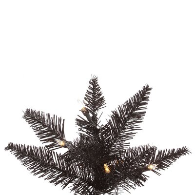 Vickerman Co. 9' Black Slim Fir Artificial Christmas Tree with 700 Mini Clear Lights