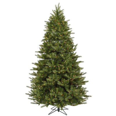 Vickerman Co. Majestic 7' Green Frasier Artificial Christmas Tree with 950 Dura-Lit Clear Lights with Stand
