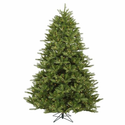 Vickerman Co. Majestic 7' Green Frasier Artificial Christmas Tree with 1150 Dura-Lit Clear Lights with Stand