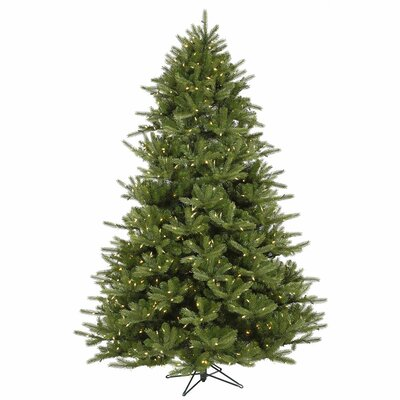 Vickerman Co. Majestic 9' Green Frasier Artificial Christmas Tree with 1350 LED White Lights with Stand