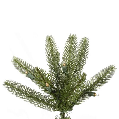 Vickerman Co. Bradford 7.5' Green Pine Artificial Christmas Tree with 550 Dura-Lit Clear Lights with Stand
