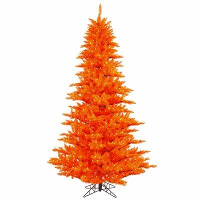 Vickerman Co. 6.5' Orange Fir Artificial Christmas Tree with 600 Mini Clear Lights