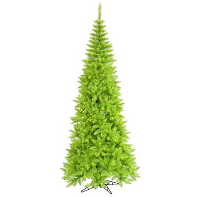 Vickerman Co. 6.5' Lime Slim Fir Artificial Christmas Tree with 400 Mini Lights