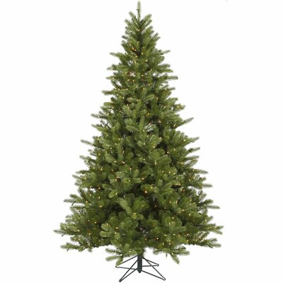 Vickerman King 5.5' Green Spruce Artificial Christmas Tree with 250 Dura-Lit Clear Lights with ...