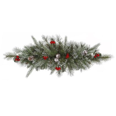 Vickerman Co. Frosted Pine Berry Swag with 35 Lights