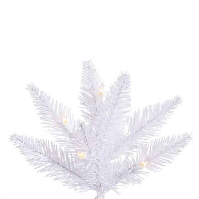 Vickerman Co. 7.5' White Slim Fir Artificial Christmas Tree with 500 Mini Clear Lights