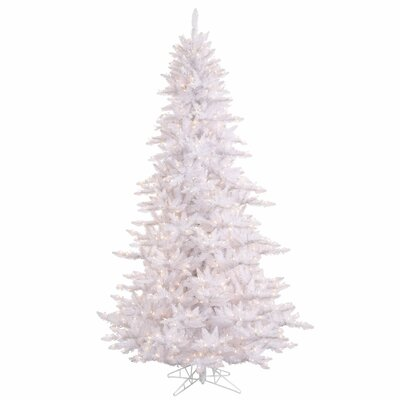 4.5' White Fir Artificial Christmas Tree with 250 Mini Clear Lights