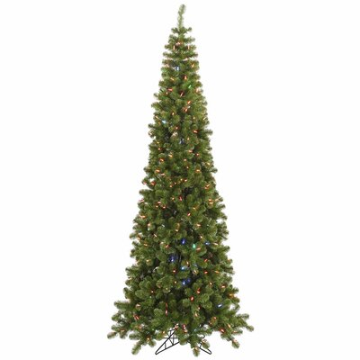 Vickerman 7.5' Green Artificial Christmas Tree with 400 LED Multi-color Lights