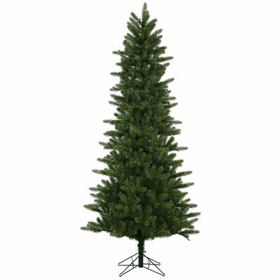 Vickerman 7.5' Green Kennedy Fir Slim Artificial Christmas Tree with 500 LED White Lights with ...