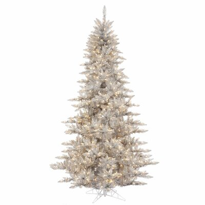 Vickerman Co. 6.5' Silver Fir Artificial Christmas Tree with 600 Mini Clear Lights