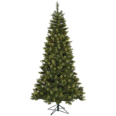 Vickerman Co. Jack 7.5' Green Pine Artificial Christmas Tree with 450 Dura-Lit Clear Lights with Stand