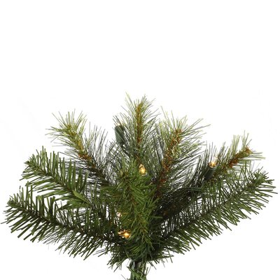 Vickerman Co. Jack 8.5' Green Pine Artificial Christmas Tree with 600 Dura-Lit Clear Lights with Stand