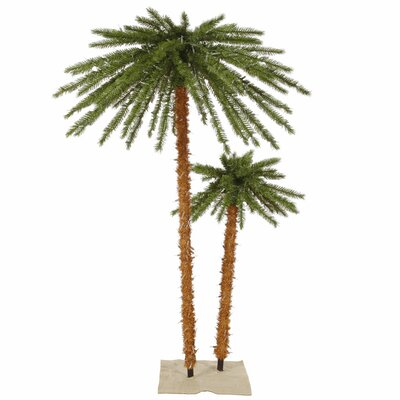 Vickerman 6' Green Outdoor Palm Artificial Christmas Tree with 400 Clear Lights