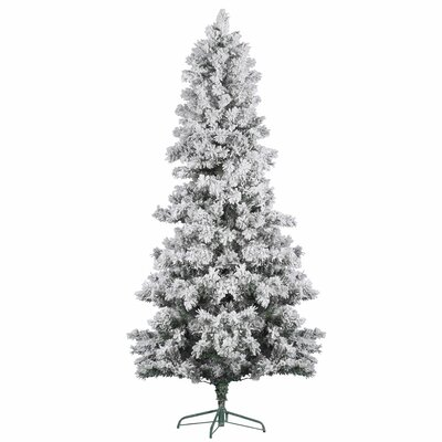 7' White Pine Artificial Christmas Tree with Flocked with Stand