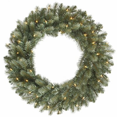 Vickerman Co. Colorado Blue Spruce Wreath with 200 Dura-Lit Lights
