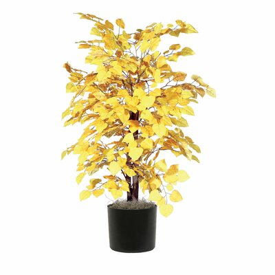 Vickerman Deluxe Artificial Potted Natural Ficus Tree in Basket