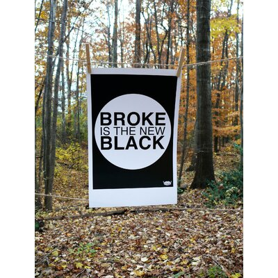 Yankee Hipster Broke is the New Black Poster