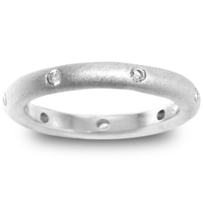Matte White Gold Rhodium Bonded Fashion Band