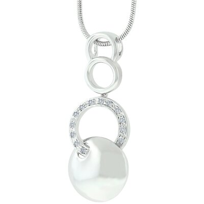 Cubic Zirconia Circle Fashion Necklace