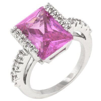 J Goodin Radiant Cut Pink Ice Queen Ring