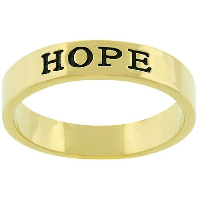 "J Goodin Gold-Tone ""Hope"" Ring"