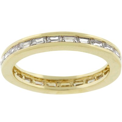 Gold Bonded Metal Cubic Zirconia Stacker Ring