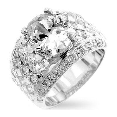 B01318T-V02Oval Clear cubic Zirconia Wedding Ring
