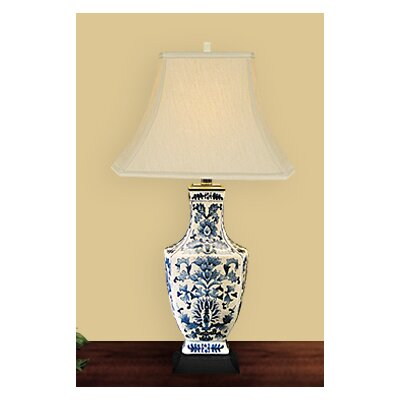 JB Hirsch Home Decor Dynasty Quad Vase Crackled Table Lamp