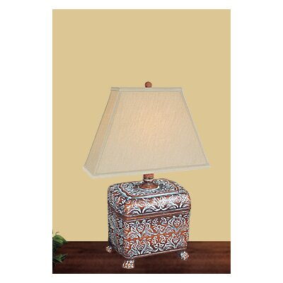 JB Hirsch Home Decor Carved Box Table Lamp