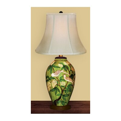 "JB Hirsch Home Decor 30"" Birds in Tree Porcelain Table Lamp"