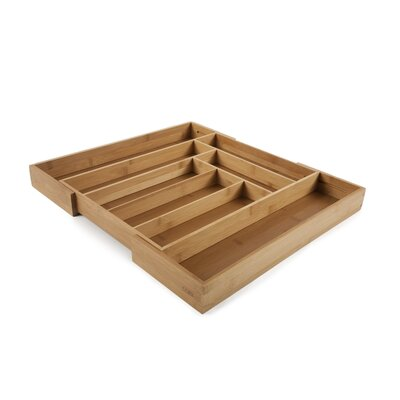 Core Bamboo Expandable Flatware Large Tray in Natural