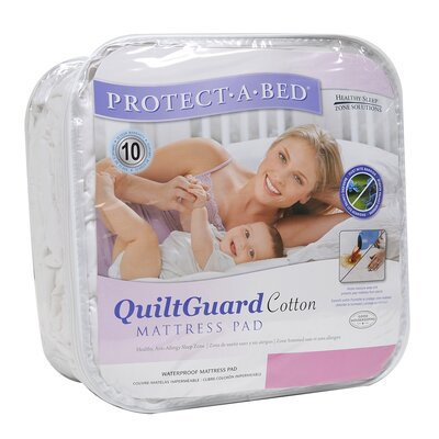 Protect-A-Bed Quilt Guard Cotton Fitted Sheet Style Mattress Protector