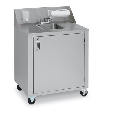 "Crown Verity Portable Single Basin 34"" x 25"" Hand Sink"