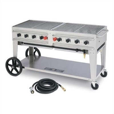 "Crown Verity 48"" Rental Grill Single Inlet"