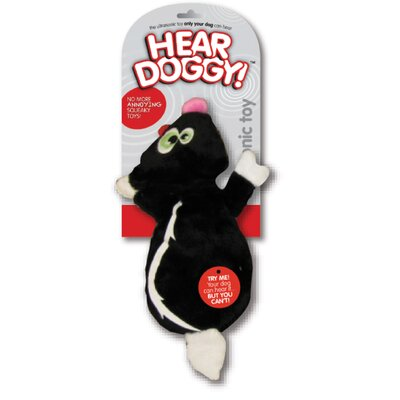 Hear Doggy Flat Dog Toy Skunk