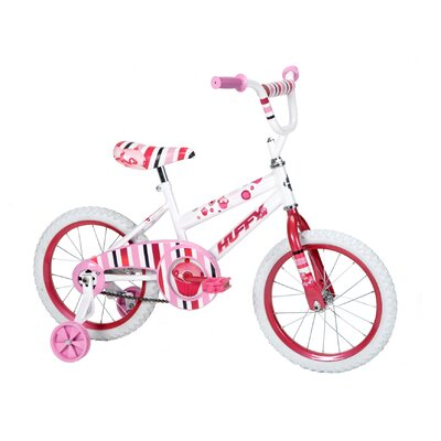 "Huffy Girl's 16"" So Sweet Cruiser Bike with Training Wheels"