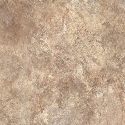 "Congoleum Ovations Textured Slate 14"" x 14"" Vinyl Tile in Sand"
