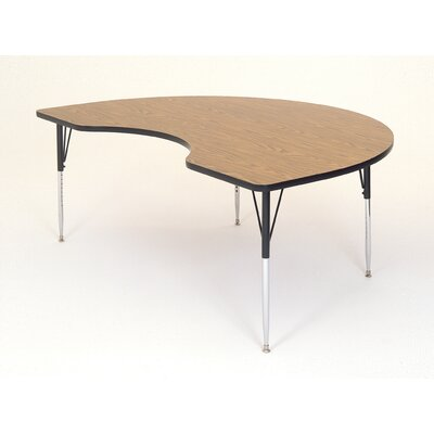 Correll, Inc. Kidney Shaped Activity Table with Short Legs