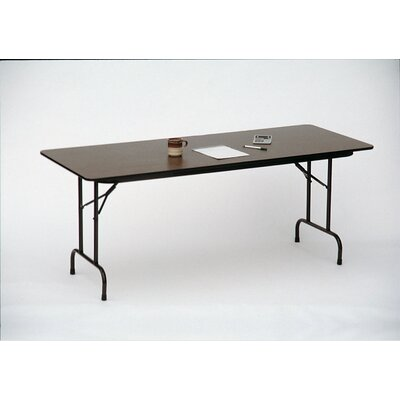 Correll, Inc. Melamine Top Folding Table in Medium Oak/Dove Gray