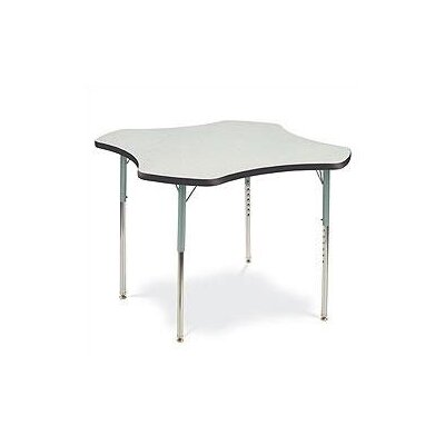 Correll, Inc. Clover Shaped Activity Table with Standard Legs