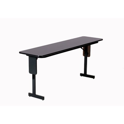 "Correll, Inc. 60"" W x 18"" D Panel Leg Folding Seminar Table"