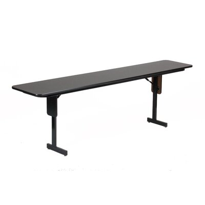 "Correll, Inc. 60"" W x 24"" D Panel Leg Folding Seminar Table"