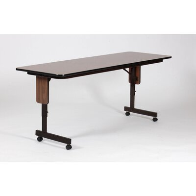 "Correll, Inc. 72"" W x 24"" D Panel Leg Folding Seminar Table with Adjustable Leg"