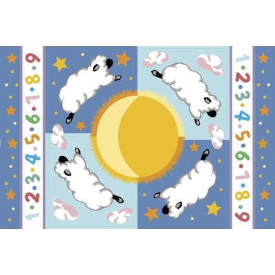 Fun Rugs Olive Kids Sleepy Sheep Baby Kids Rug