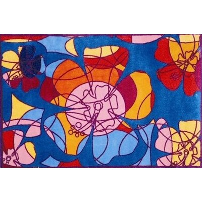 Fun Rugs Supreme Retroactive Flower Kids Rug