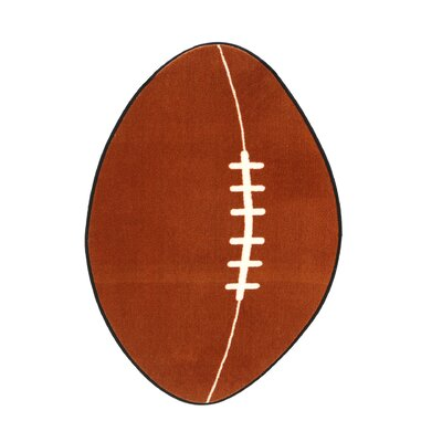 Fun Rugs Fun Shape High Pile Football Sports Kids Rug