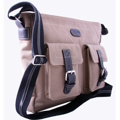 Downtown Messenger Bag in Khaki